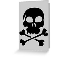 SKULL AND CROSSBONES by Zombie Ghetto Greeting Card
