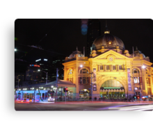 Flinders Street Eve Canvas Print