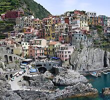 Scene of Cinque Terre by danieldemellis