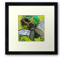 Sunflight (Gold Scarab) Framed Print