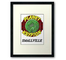 Planet Krypton - Smallville Framed Print