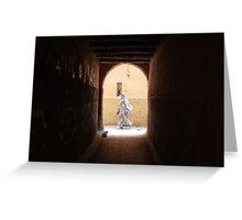 Laneways of Marrakech Greeting Card