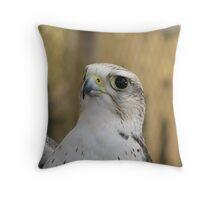 Saker Falcon Throw Pillow