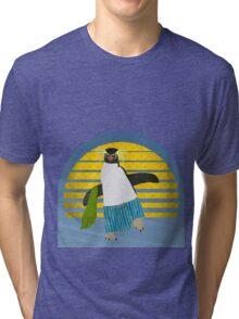 Northern Rockhopper Penguin on Spring Break Tri-blend T-Shirt