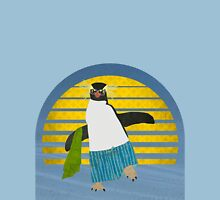 Northern Rockhopper Penguin on Spring Break Unisex T-Shirt
