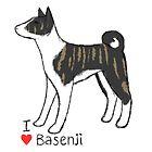I Love Basenji - Black Brindle by fizzy-lizard