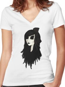 Doll Face Women's Fitted V-Neck T-Shirt