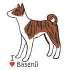 I Love Basenji - Brindle by fizzy-lizard