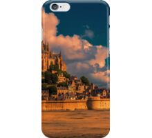 France. Normandy. Mont Saint-Michel in pink light. iPhone Case/Skin