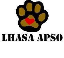 I Love My Lhasa Apso by kwg2200