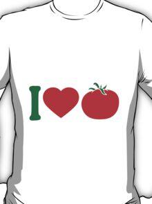 I love tomatoes vegetables logo T-Shirt