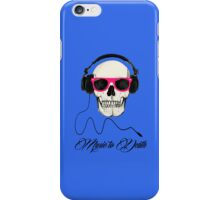 DJ SKULL Music to Death iPhone Case/Skin