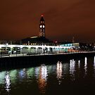 N J Transit Clock Tower Hoboken NJ by pmarella