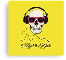 DJ SKULL Music to Death Canvas Print