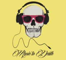 DJ SKULL Music to Death Kids Clothes