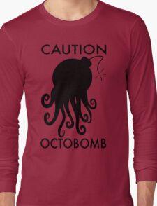 Caution Octobomb Long Sleeve T-Shirt