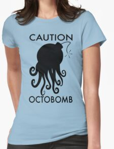 Caution Octobomb Womens Fitted T-Shirt