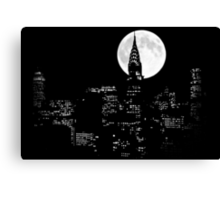 New York By Night Canvas Print