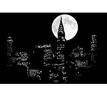 New York By Night Photographic Print