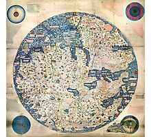 1458 World Map by Fra Mauro Photographic Print