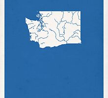 Washington Minimalist Vintage Map by FinlayMcNevin