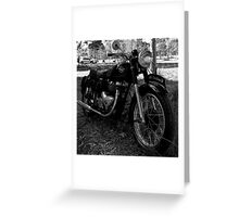 1953 Matchless G9 Greeting Card