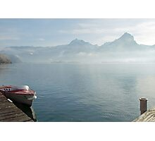 Lifting fog Photographic Print