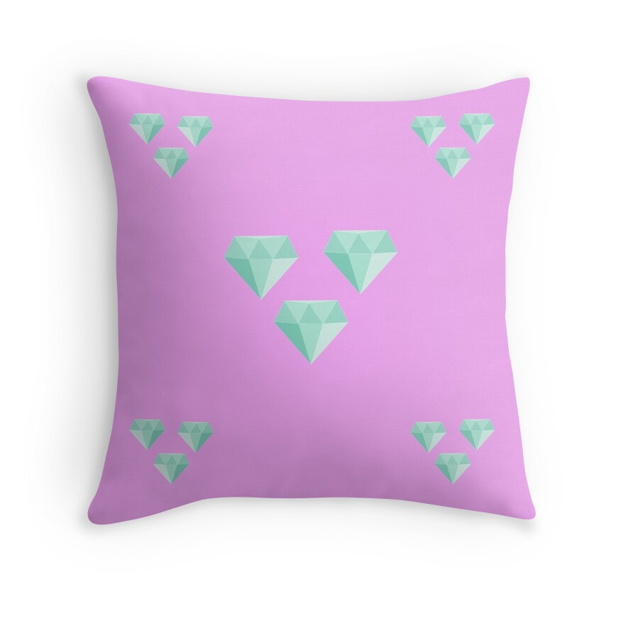 Quotmy little pony amethyst star cutie mark v3quot throw for Amethyst throw pillows