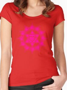 Anahata Heart Chakra Centre Of Love & Compassion Women's Fitted Scoop T-Shirt