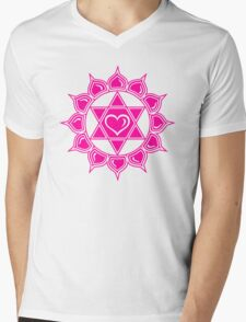 Anahata Heart Chakra Centre Of Love & Compassion Mens V-Neck T-Shirt
