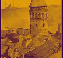 Galata Tower watercolor by emel