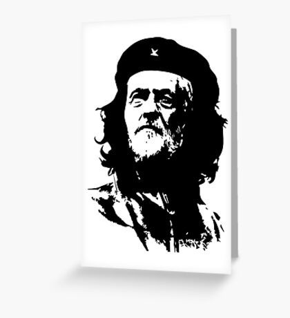 Che Corbyn - Jeremy Corbyn and Che Guevara political mash-up tshirt | Labour party leader Greeting Card
