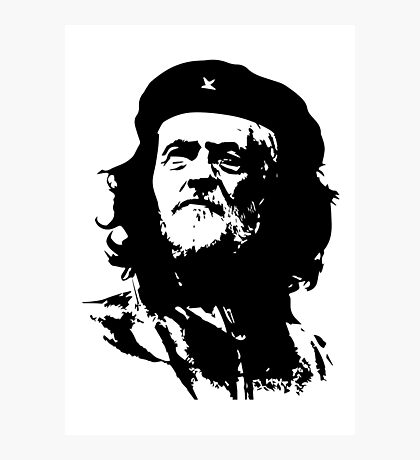 Che Corbyn - Jeremy Corbyn and Che Guevara political mash-up tshirt | Labour party leader Photographic Print