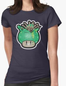 Mushroom-FaceHugger Womens Fitted T-Shirt