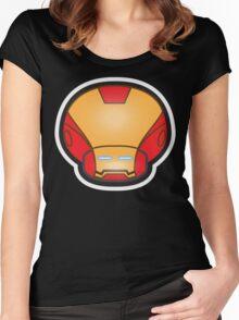 Mushroom-Iron Women's Fitted Scoop T-Shirt