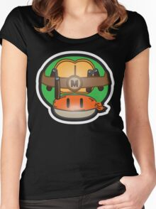 Mushroom-Mutant Turtle Women's Fitted Scoop T-Shirt