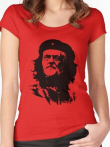 Che Corbyn - Jeremy Corbyn and Che Guevara political mash-up tshirt   Labour party leader Women's Fitted Scoop T-Shirt