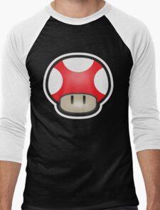 Mushroom-Red Men's Baseball ¾ T-Shirt