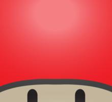 Mushroom-Red Sticker