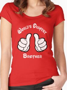 worlds okayest brother Women's Fitted Scoop T-Shirt
