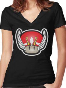 Mushroom-Seya Women's Fitted V-Neck T-Shirt