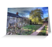 The Cart and the Willow Greeting Card