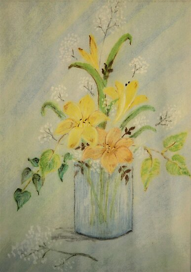 Flowers in Pastels by Qnita