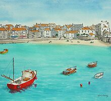 St Ives, Cornwall by Lynne  Kirby