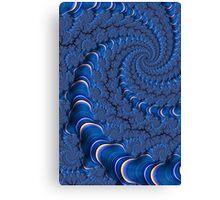 Blue Tubes Canvas Print