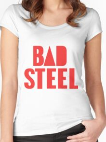 BAD STEEL (as seen on Bastille's albums, staff, etc.) Women's Fitted Scoop T-Shirt