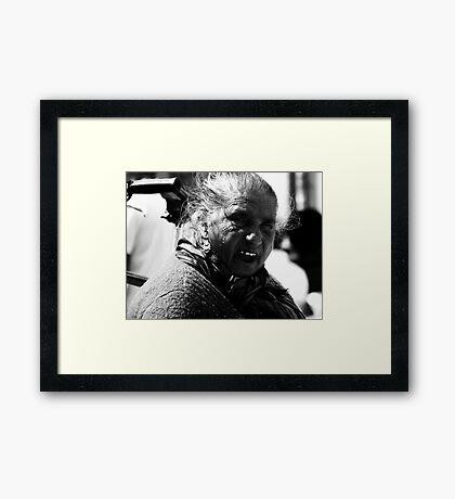 The Face of the Rosemary Seller Framed Print