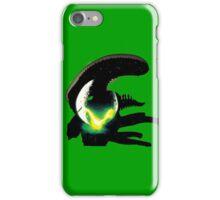alien pop culture silhouette iPhone Case/Skin