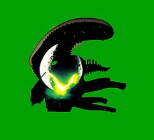 alien pop culture silhouette by zxandungoTV