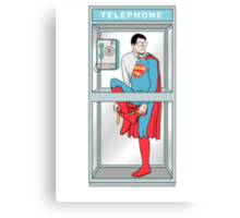 Superman in problem Canvas Print